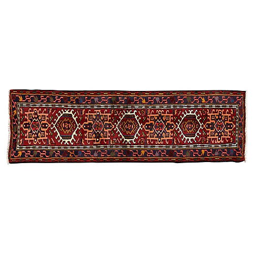 Persian Heriz Runner, 2' x 6'5""