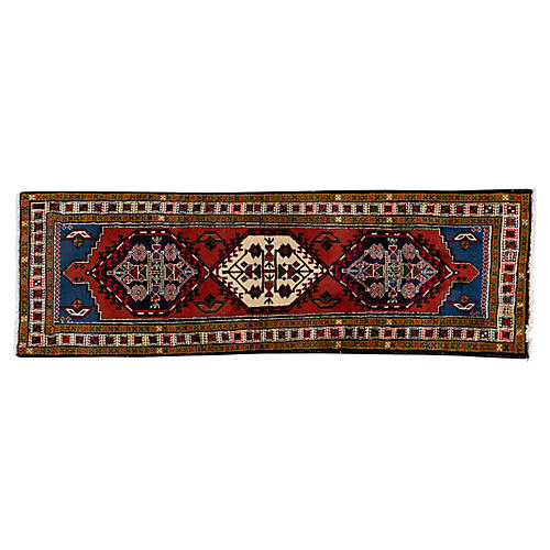 Persian Heriz Runner, 2' x 6'3""