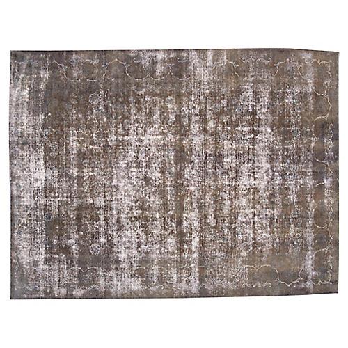 """Distressed Persian Carpet, 9'3"""" x 12'2"""""""