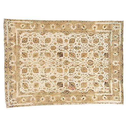 "Persian Tabriz Carpet, 9' x 12'8"""