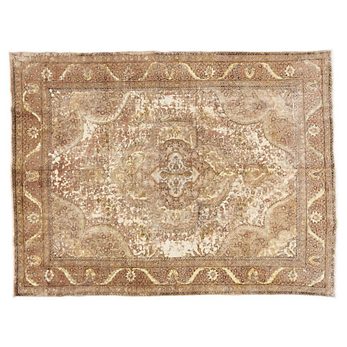 "Distressed Persian Rug, 9'6"" x 12'7"""