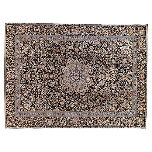 """Persian Kashan Rug, 9'3"""" x 12'10"""""""