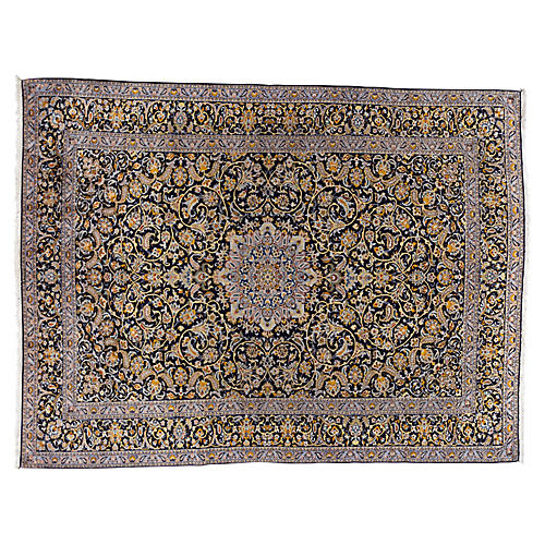 "Persian Kashan Carpet, 9'11"" x 13'4"""