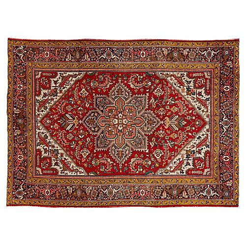 "Persian Heriz Rug, 7'9"" x 10'8"""