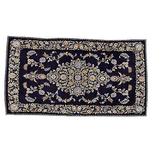 """Vintage Persian Kerman Rug, 3'11"""" x 7'2"""""""
