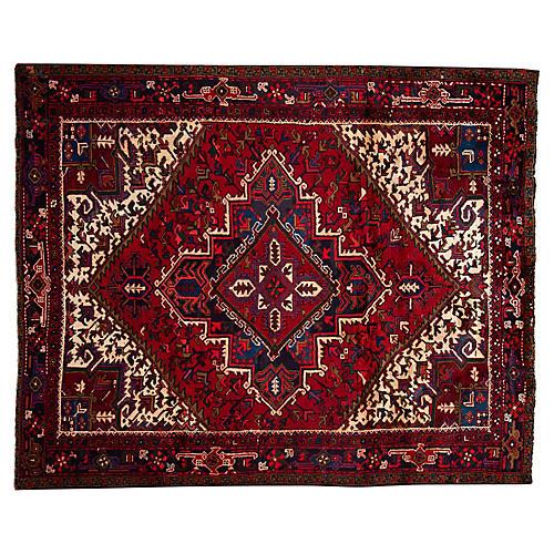 "Persian Heriz Rug, 7'4"" x 8'10"""
