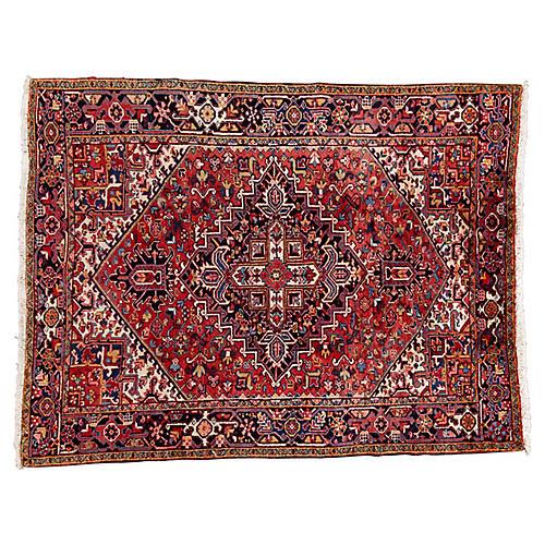 Persian Heriz Rug, 7' x 9'