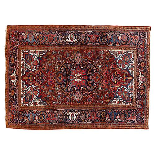 "Persian Heriz Rug, 7'10"" x 10'10"""