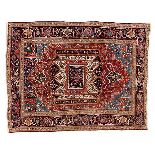 """Antique Persian Heriz Rug, 7'8"""" x 10'"""