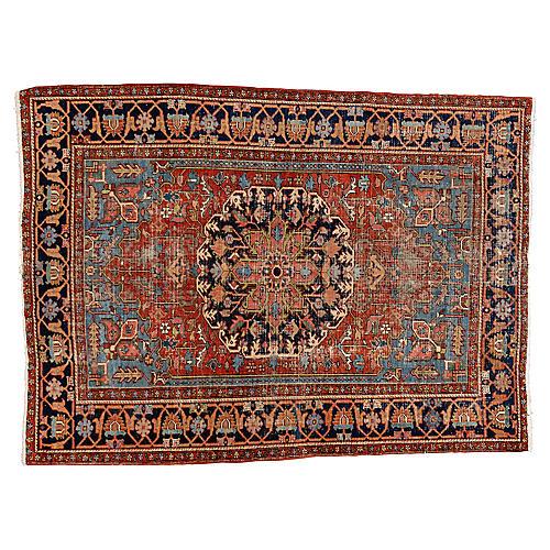"""Antique Persian Heriz Rug, 6'9"""" x 9'3"""""""