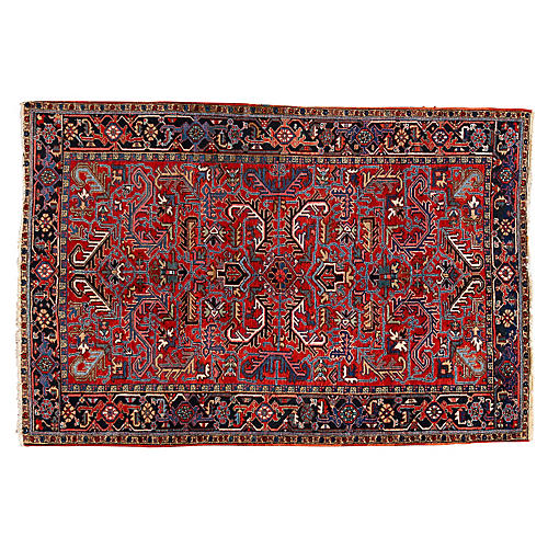 "Persian Heriz Rug, 6'2"" x 9'3"""