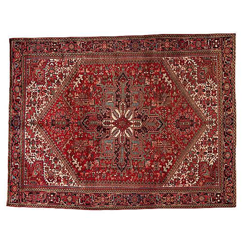 "Vintage Persian Heriz Rug, 8'8"" x 11'4"""