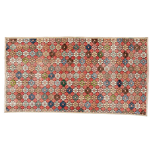 "Turkish Art Deco Rug, 3'8"" x 6'10"""