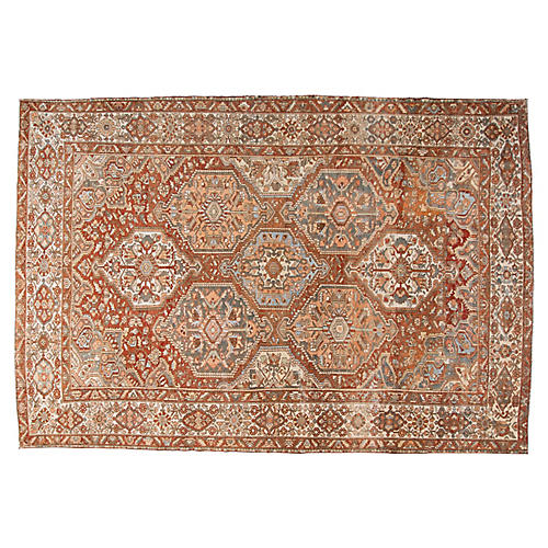 "Antique Heriz Rug, 11'8"" x 17'1"""