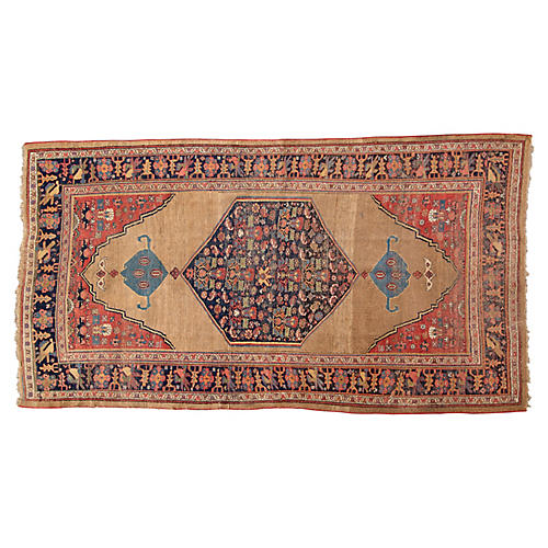 "Antique Persian Bidjar Rug 5'5"" x 10'3''"