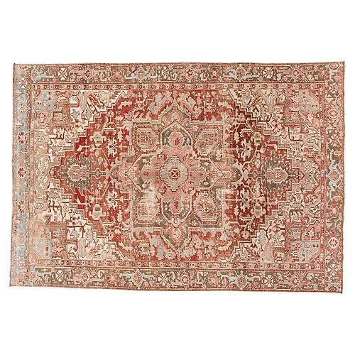 "Antique Heriz Rug, 7'5"" x 10'9"""