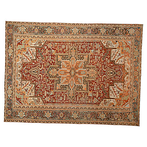 Antique Persian Heriz Rug, 9' x 12'1""
