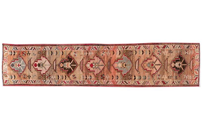 Vintage Turkish Geometric Wool Runner