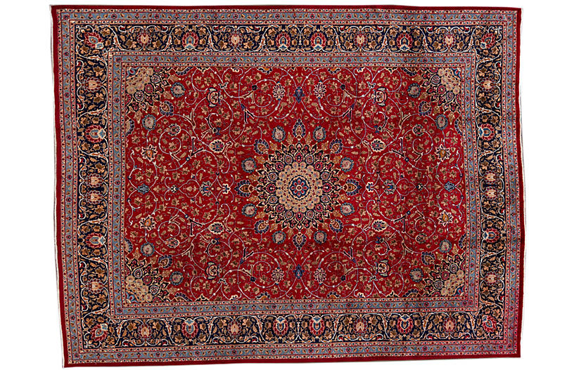 10'x13' Early 20th Century Persian Rug