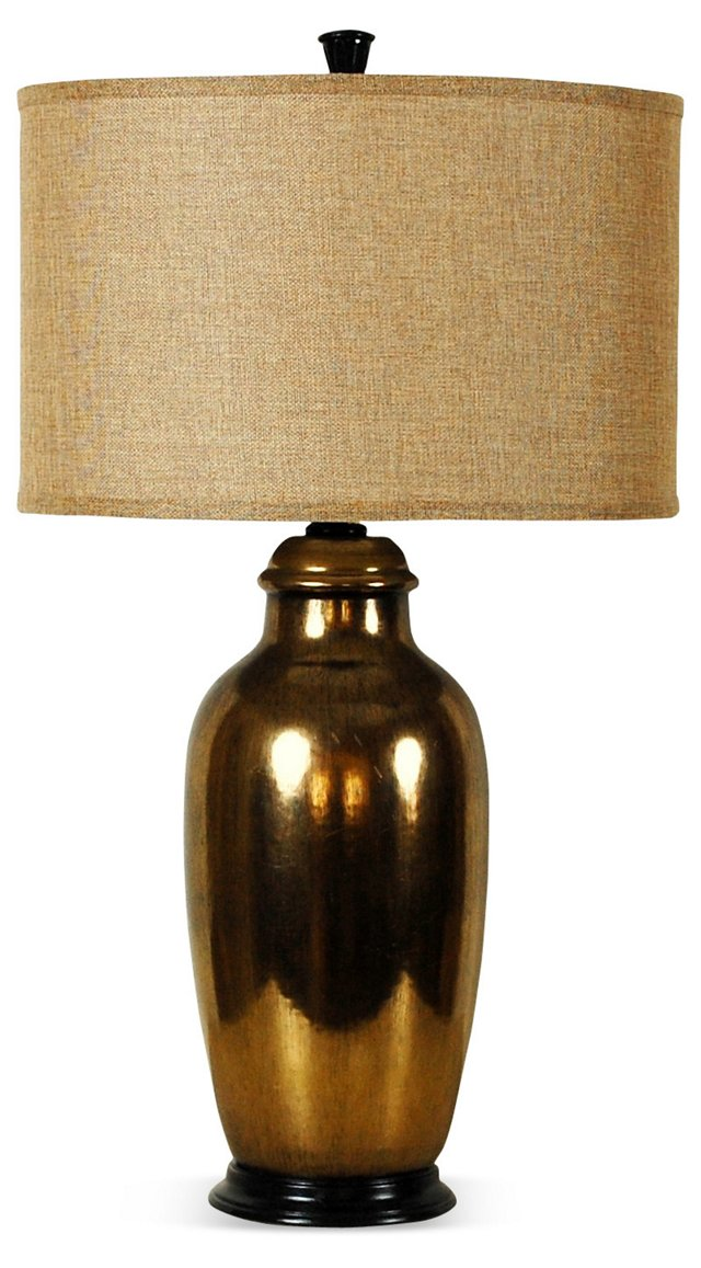 Art Pottery Lamp with bronze glaze