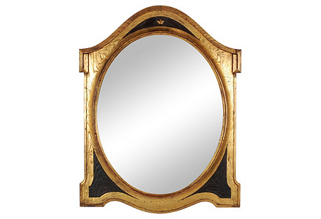 English Shield Mirror, C. 1850