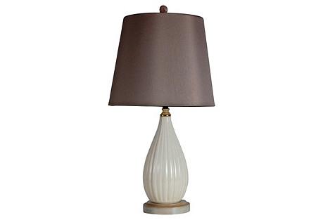 Tonal Ceramic Lamp w/ Shade