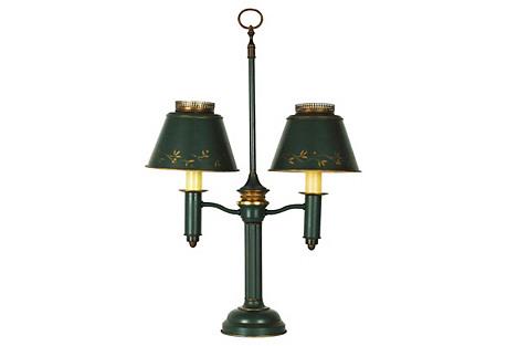 1920's Tole Student Lamp