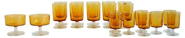 Luminarc Yellow Stemmed Glasses, S/20