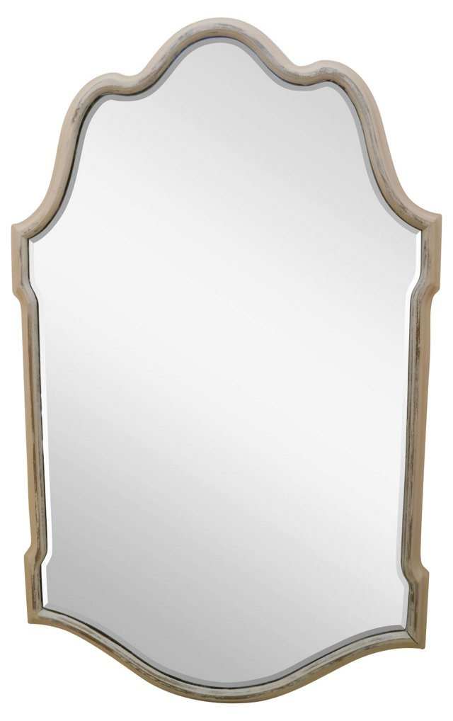 Beveled Mirror w/ Curved Frame