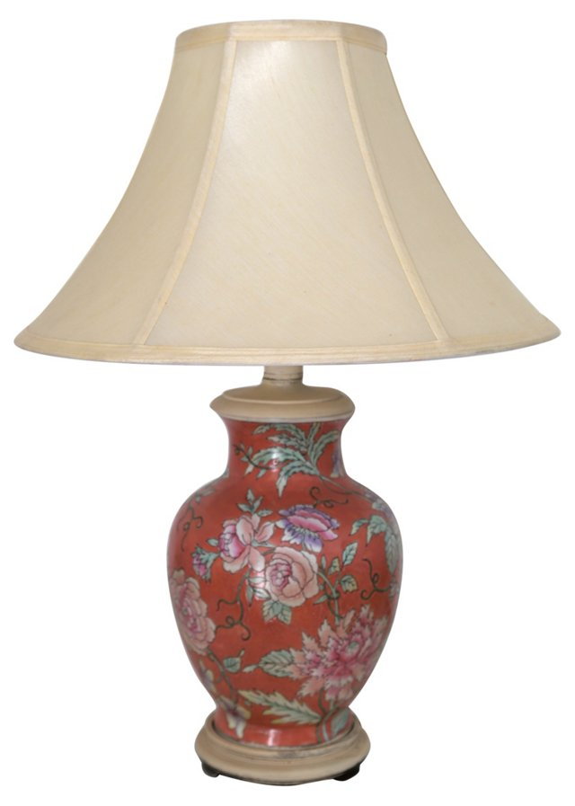 Hand-Painted Ginger Jar Lamp