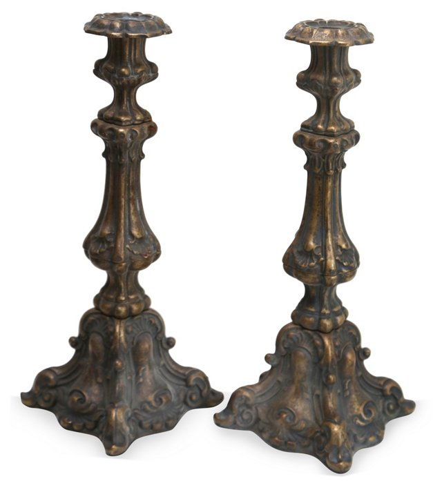 Italian Candlesticks, Pair