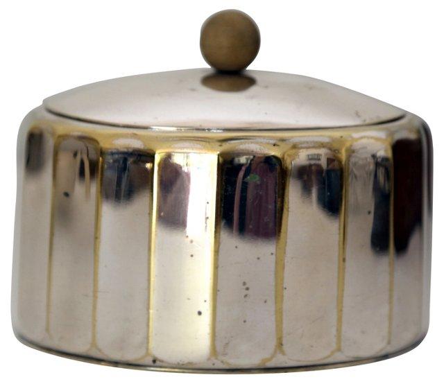 Oval Silverplate Box