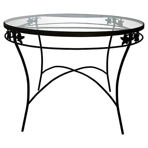 Midcentury Iron & Glass Table