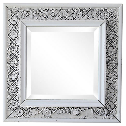 White Oak Beveled Mirror