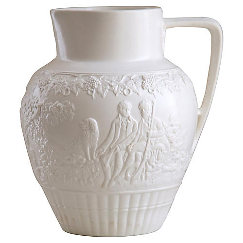 Antique English Salt-Glaze Pitcher