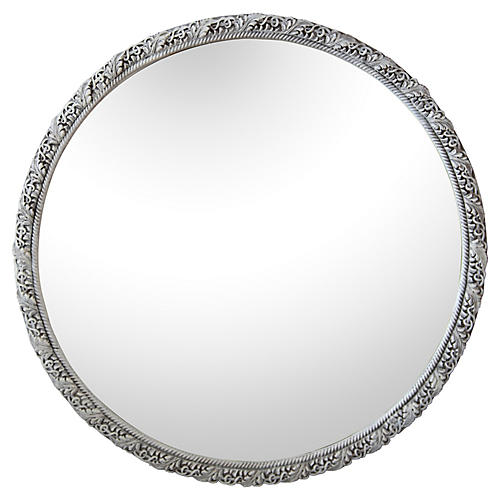 Art Deco-Style Round Mirror