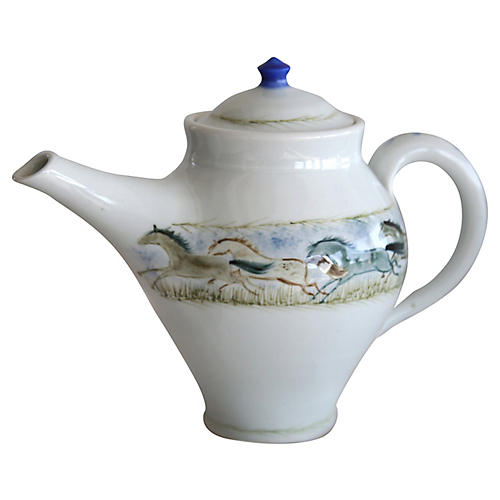 Hand-Painted Teapot