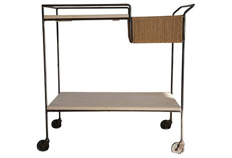Sleek Midcentury Bar Cart
