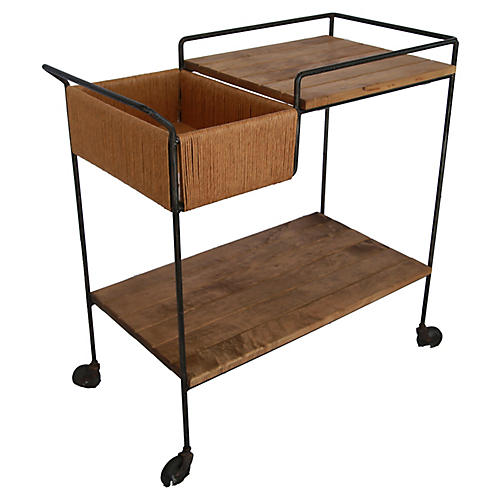 Sleek Arthur Umanoff Midcentury Bar Cart