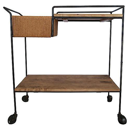 Sleek Arthur Umanoff Midcentury Bar Cart