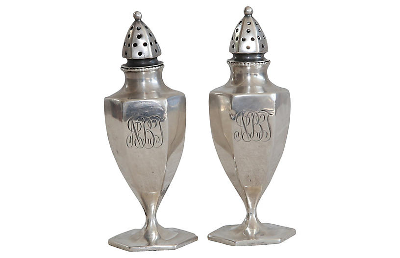 Sterling Salt & Pepper Shakers