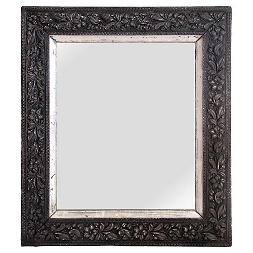 Antique Floral Mirror