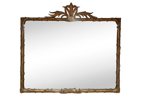 Art Deco Flame-Topped Mirror