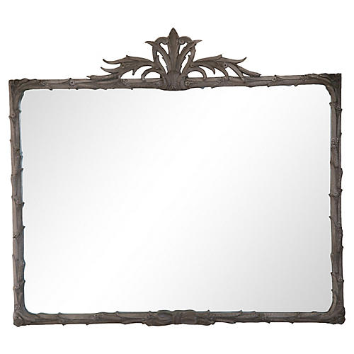 Flame-Topped Mirror