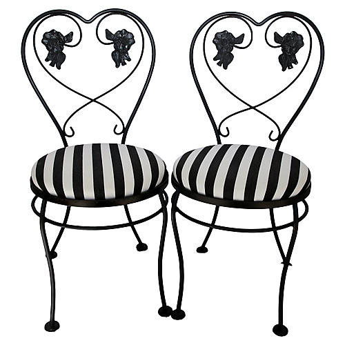 Midcentury Ice Cream Chairs, Pair