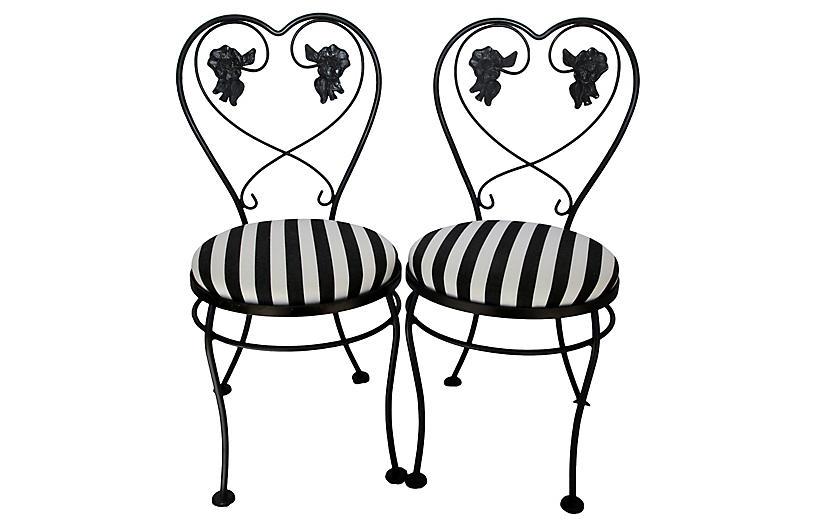 Midcentury Ice Cream Chairs, Pair