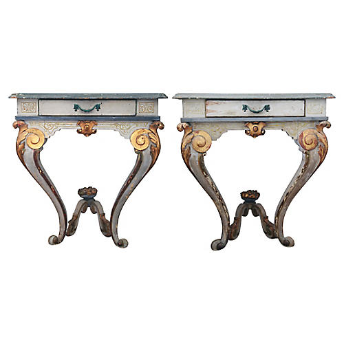 Antique Venetian Consoles, S/2
