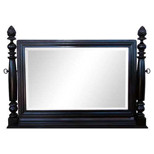 Ebony Mahogany Dressing Mirror