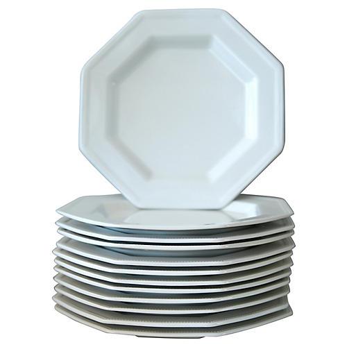 English Ironstone Plates, S/12