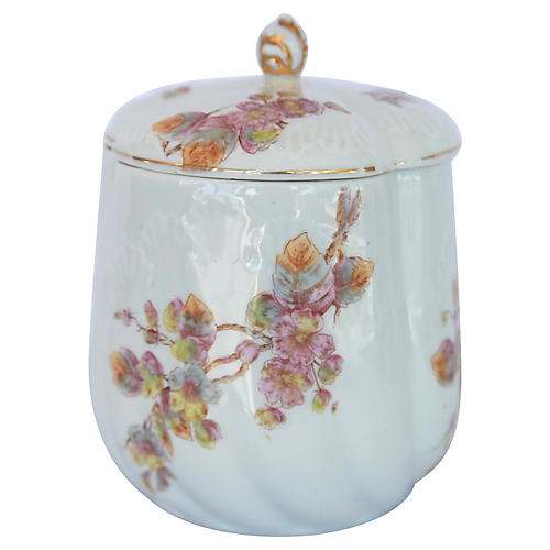 Antique French Porcelain Canister